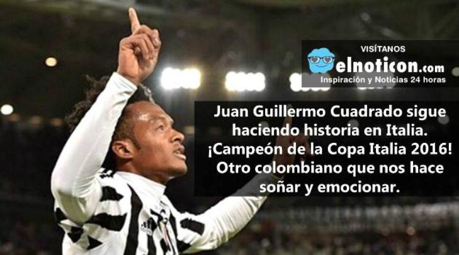 Juan Guillermo Cuadrado ¡Campeón de la Copa Italia 2016!