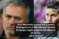 José Mourinho quiere ver a James Rodríguez en el Manchester United