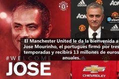 Jose Mourinho es oficial el nuevo entrenador del Manchester United ¿Se llevará a James Rodríguez?