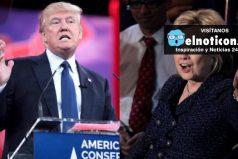 Donald Trump le sigue pisando los talones a Hillary Clinton en última encuesta de la cadena NBC News