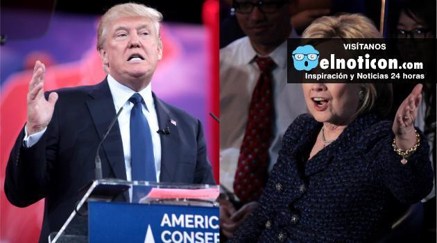 Donald Trump le sigue pisando los talones a Hillary Clinton