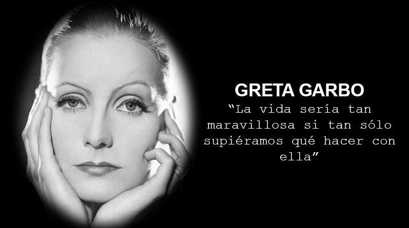 Resultado de imagen de frases de Greta Garbo
