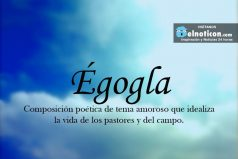 Definición de Égogla