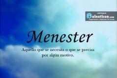 Definición de Menester