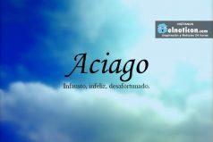 Definición de Aciago
