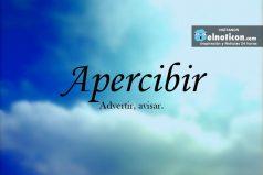 Definición de Apercibir