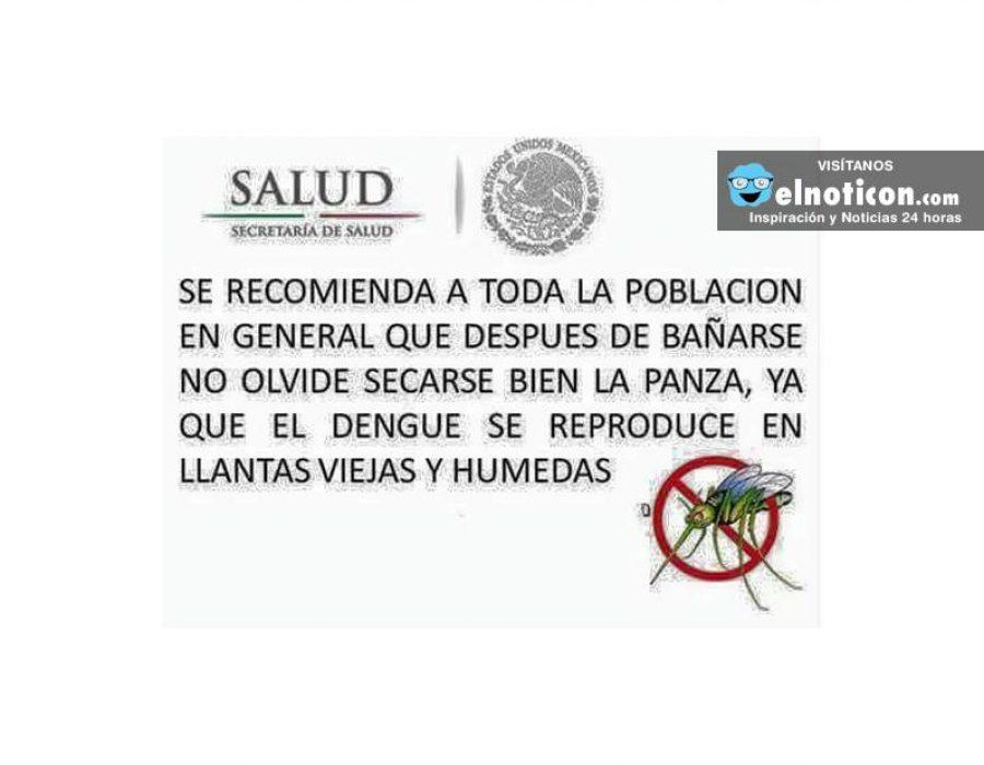 Recomendación contra el dengue