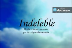 Definición de Indeleble