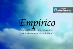 Definición de Empírico