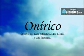 Definición de Onírico