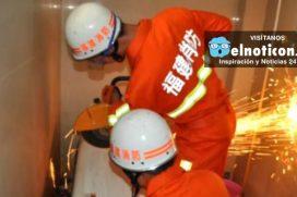 Un hombre quedó atrapado en una lavadora en China ¡De no creer!
