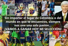 Amor, corazón y alegría para apoyar hoy a nuestra Selección Colombia