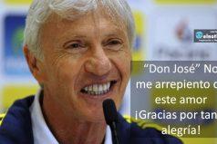 "Gracias ""Don José"" Pékerman"