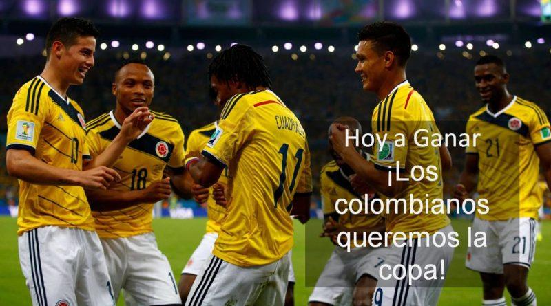 Los colombianos queremos la copa