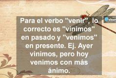 Uso del verbo venir