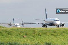 ¡Asombroso! Estos dos aviones aterrizaron al mismo tiempo