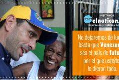 """""""Venezuela no tiene futuro con Nicolás Maduro"""". Henrique Capriles"""