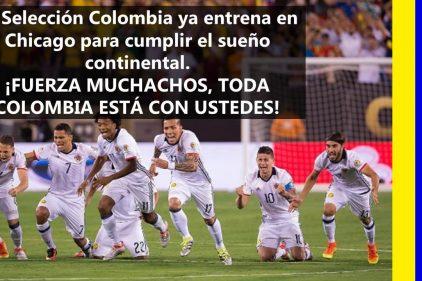 La Selección Colombia ya entrena en Chicago para enfrentar a Chile