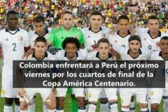 Colombia enfrentará a Perú por los cuartos de final de la Copa América