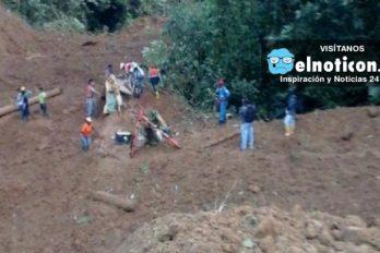 Alud de tierra en la vía Medellín Quibdó deja varias victimas