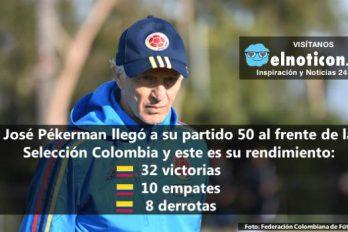 José Pékerman llegó a su partido 50 con la Selección Colombia