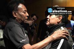 Pelé y Maradona, dos históricos del fútbol dejaron a un lado su rivalidad