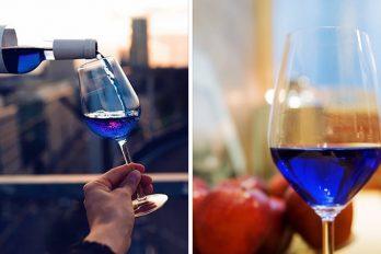 Olvídate del vino rosé, el vino azul es la nueva tendencia que cada vez conquista más paladares