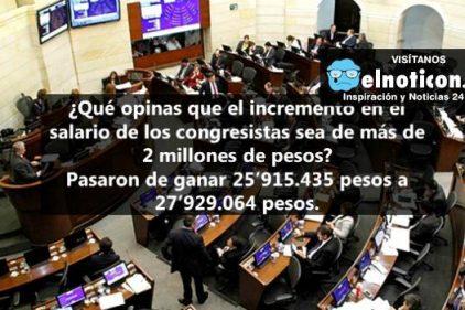 Gobierno aprobó aumento de más de 2 millones de pesos en sueldo de congresistas