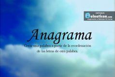 Definición de Anagrama