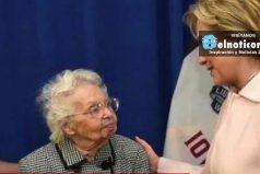 """Mujer de 103 años: """"Tengo que vivir hasta que Hillary Clinton gane"""""""