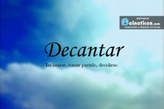 Definición de Decantar
