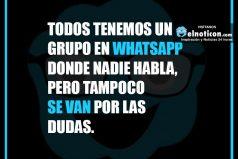 Todos tenemos un grupo en Whatsapp…