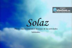 Definición de Solaz