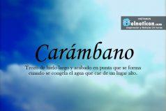 Definición de Carámbano