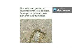 Nos informan que se han encontrado un fósil de Nokia