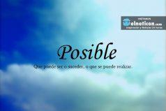 Definición de Posible