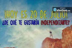 ¡Hoy es 20 de julio!