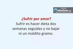 ¿Sufrir por amor?