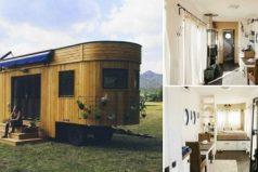 Una encantadora casita rodante en muy pocos metros cuadrados