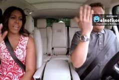 Michelle Obama canta y baila al ritmo de Beyoncé en karaoke con James Corden