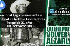 ¡Felicitaciones! Nacional rumbo a la final de la Copa Bridgestone Libertadores 2016
