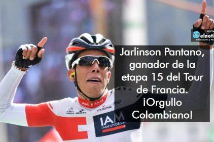 Jarlinson Pantano, ganador de la etapa 15 del Tour de Francia