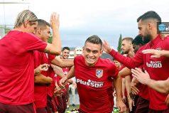Así fue el recibimiento que le hizo el Atlético de Madrid a Rafael Santos Borré