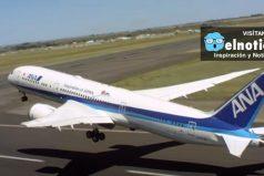 Mira cómo este Boeing 787-9 hace un despegue vertical ¡No lo podrás creer!