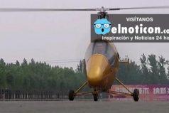 Este granjero construyó un helicóptero en su casa y dio este paseo