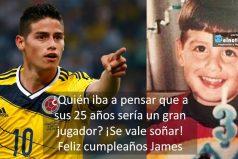 James a sus 3 añitos ¡Hoy es un gran orgullo para Colombia! FELIZ CUMPLEAÑOS JAMES