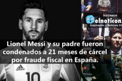 Por fraude fiscal Messi podría pagar 21 meses de prisión en Barcelona