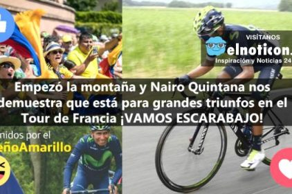 Nairo Quintana es sexto en la clasificación general del Tour de Francia