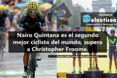 Nairo Quintana supera a Froome en el ranking de la UCI