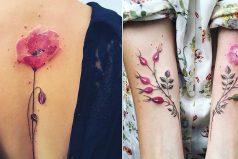 Los delicados tatuajes de esta artista están inspirados en los cambios de las estaciones